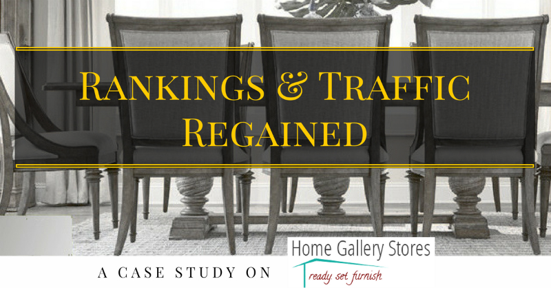 SEO case study - rankings and traffic regained