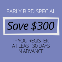 Early bird discount saves $300