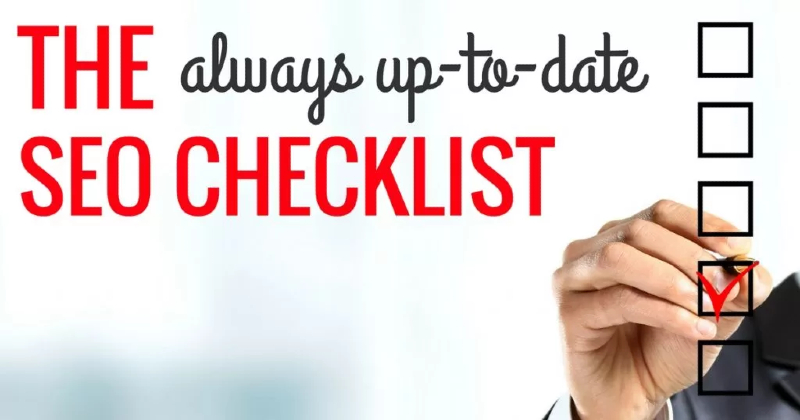 SEO checklist by Bruce Clay.