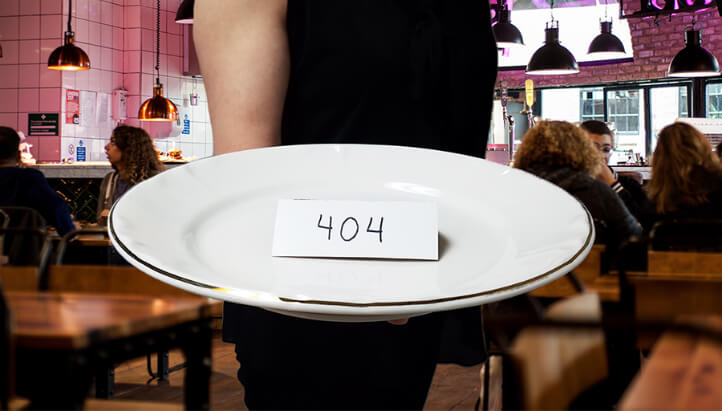 404 error served on a plate.