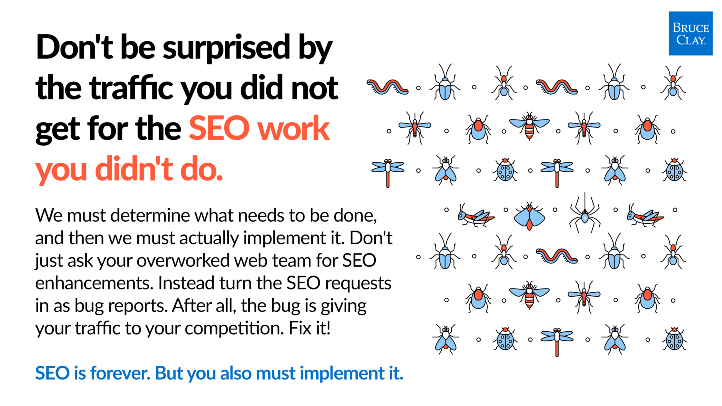Don't be surprised by results you didn't get from SEO work you didn't do.