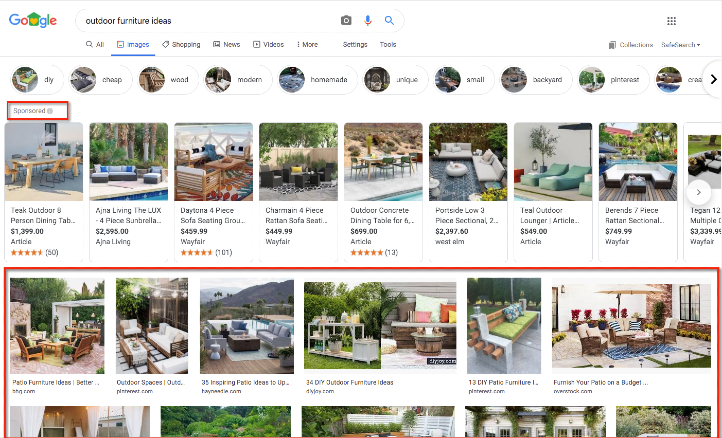 Google Images search results.