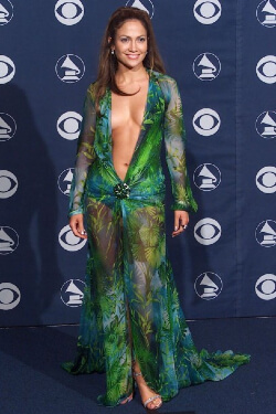 Iconic image of J.Lo wearing dress that sparked image search engine.