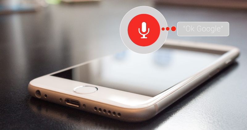 Voice search using a mobile phone.