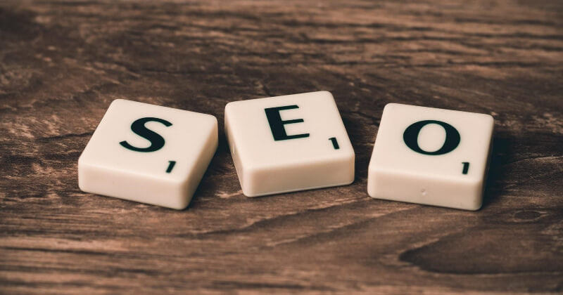 S-E-O acronym for search engine optimization.