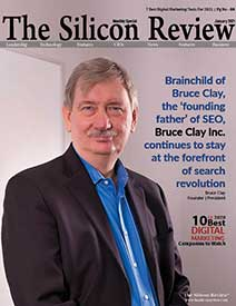 The Silicon Review cover featuring Bruce Clay.