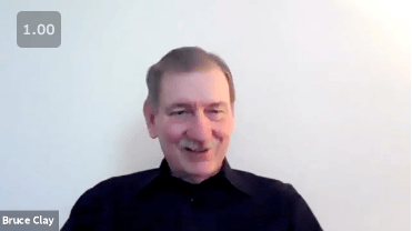 Bruce Clay being interviewed in 2021.