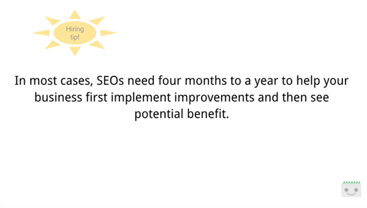 Google quote: SEOs need four months to a year.