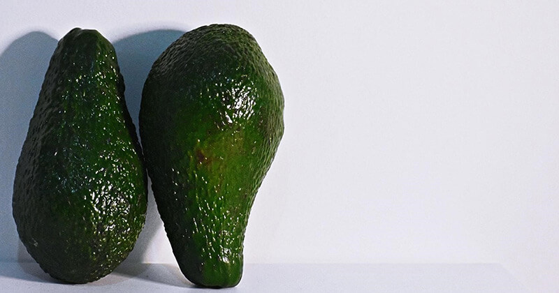 Duplicate avocados appear too similar to determine which one is better.
