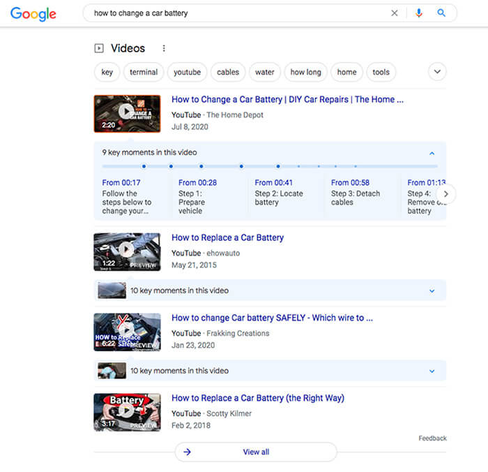 """Video results for the query """"how to change a car battery."""""""