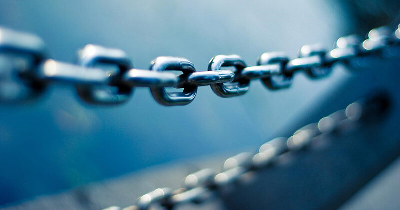 Chain links bond together to form a connection much like webpage outbound links.